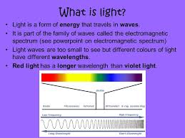 Is Light Energy 1 Recall That The Electromagnetic Spectrum Is A Family Of Waves
