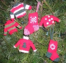 mini sweater ornaments knitting