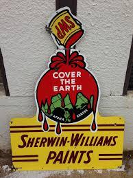 antique sherwin williams paints porcelain sign old vintage paint