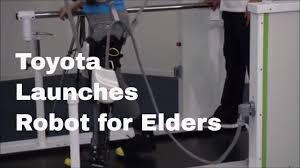 headquater toyota toyota launches robot to keep elderly mobile youtube