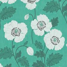 poppycock teal wallpaper tiles contemporary wallpaper by