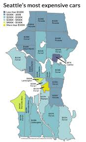 Seattle On A Map Of Washington by Seattle U0027s Priciest Cars By Neighborhood And The Subaru Myth Kuow