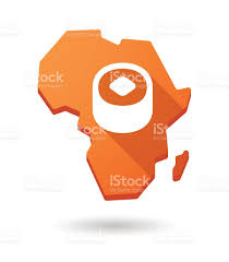 Africa Continent Map by Africa Continent Map Icon With A Sushi Piece Stock Vector Art