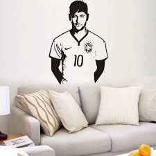 57x80cm high quality new brazil football star neymar remove wall 57x80cm high quality new brazil football star neymar remove wall stickers art vinyl decals pvc decals for boys decoration y 120 in wall stickers from home