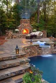 Sloped Backyard Ideas Sloped Backyard Pool Ideas Home Pinterest Sloped Backyard