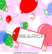 clip of card to balloon meaning birthday invitation