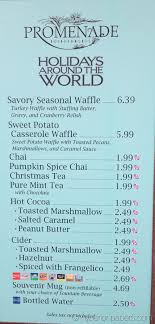 new holidays around the world menu at promenade refreshments