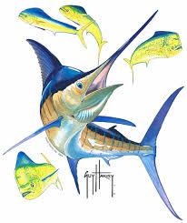 marlin painting fish drawings and paintings