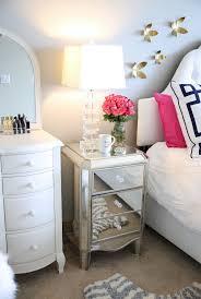Golden Night Bed Decoration Best 25 Mirrored Nightstand Ideas On Pinterest Mirror Furniture