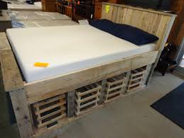 Pallet Platform Bed Bedding Diy Pallet Platform Bed Pinterest Inspired