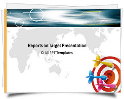powerpoint target report template colorful