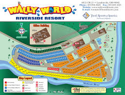Camping World Locations Map by Wally World Resort Campsite Map Wally World Resort