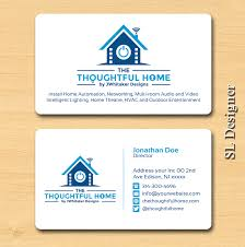 bold serious business card design for the thoughtful home by