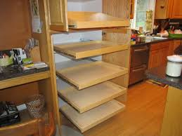 Roll Out Shelves Kitchen Cabinets Unstained Wooden Corner Pul Out Shelves Kitchen Cabinet With Glass