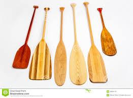 Decorative Canoe Paddles Set Of Wooden Paddles Stock Illustration Image 50903781