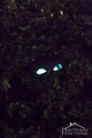 diy spooky glow stick eyes