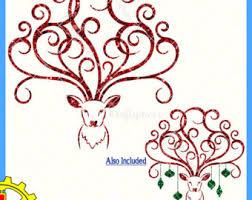 deer with antlers etsy