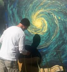 artists paint local teacher on high dive wall u2013 wuft news