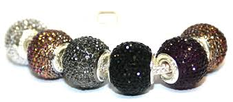 pandora style bead bracelet images 1piece x 16mm 10mm big hole black diamond acrylic beads fitted jpg