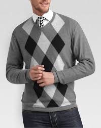 black and white argyle sweater mens cashmere sweater england
