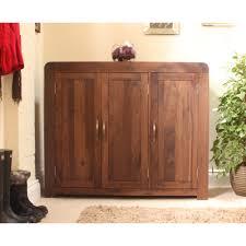 Dark Wood Furniture Shiro Shoe Storage Cabinet Cupboard Rack Large Solid Walnut Dark
