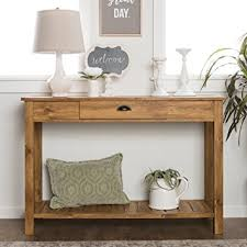 48 inch console table amazon com we furniture 48 inch country style entry console table
