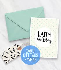 mint wrapping paper printable birthday card gift tags and wrapping paper set