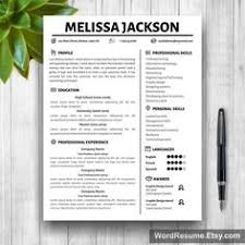 Resume Cover Page Template Word Resume Template With Photo Cover Letter Cv Template Word Us