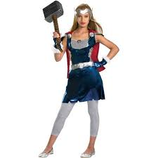 Halloween Costume Tween Girls Thor Tween Halloween Costume Walmart