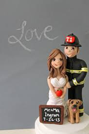firefighter wedding cake toppers fully customized cake people