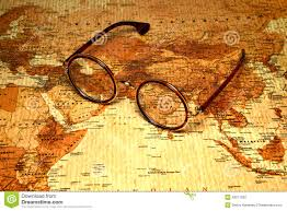 Malaysia On A Map Glasses On A Map Of A World India Stock Photo Image 43571289