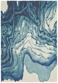 Area Rugs In Blue by Watercolor Collection Power Loomed Polypropylene Area Rug In