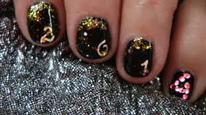 new year u0027s eve 2014 2 nail art design tutorial youtube