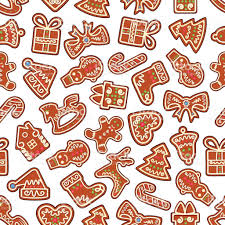 christmas cookies and biscuits seamless background stock vector