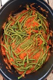 cuisine haricot vert haricots verts sauce tomate chez becky et liz de cuisine