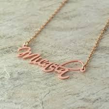 custom handwriting necklace personalized alloy jewelry signature name necklace custom
