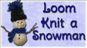 snowman christmas ornament loom knitting youtube