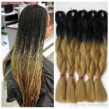 Light Brown Box Braids Wholesale Ombre Kanekalon Braiding Hair 24100g Synthetic Braiding