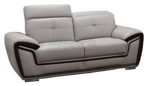 canap gris but ensemble canapé fixe en simili cuir 3 2 coloris gris et noir