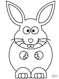 cute rabbit template cartoon bunny coloring pages easter eggs