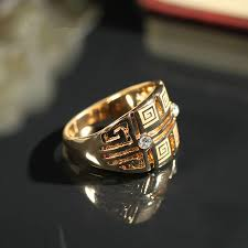 gothic rings men images Supin trendy unisex punk exquisite hollow joint men gold cristal jpg