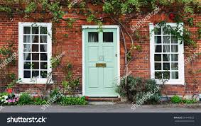 Door House by View Beautiful House Exterior Front Door Stock Photo 584445823