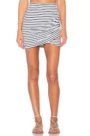 lovers friends voyage skirt in navy stripe revolve
