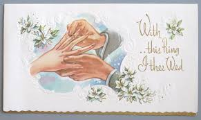 with this ring i thee wed vintage greeting card wedding groom with this ring i