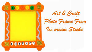 craft ideas for kids make photo frame from ice cream sticks
