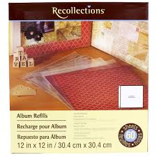 scrapbook albums recollections scrapbook album refill value pack