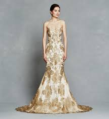 gold wedding dresses silver and gold 25 metallic accented wedding gowns