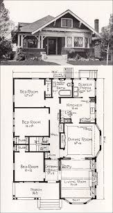 antique home plans transitional bungalow floor plan c 1918 cottage house plan by