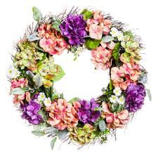 hydrangea wreath colorful hydrangea wreath myevergreen myevergreen