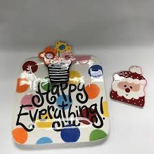 happy everything platter other collectibles seasonal collectibles